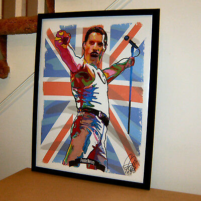 G562 Freddie Mercury Young Queen Band Fabric Poster Singer Art Print 20x30 24x36