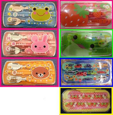 It cute,Lunch Box Accessory Chopsticks,Spoon,Fork Set Japan Plastic Rabbit Frog