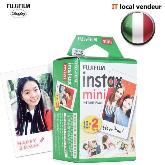 20 Scatti Fuji Instax Mini Pellicola Film Per Fujifilm Mini 7s/8/25/50/90/70 IT