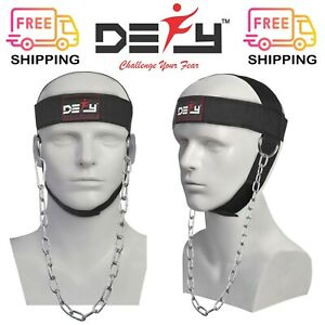 DEFY-NYLON-WEIGHT-LIFTING-HEAD-HARNESS-NECK-STRENGTH-STRAP-GYM-EXERCISE-FITNESS