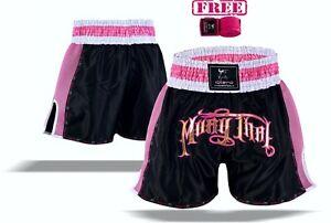 EVO-Ladies-Muay-Thai-Shorts-Girls-MMA-Kick-Boxing-Martial-Arts-Women-Fight-Gear