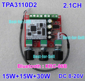 TPA3110D2 2 1CH Bluetooth Subwoofer Stereo Audio Amplifier