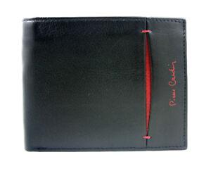 PIERRE-CARDIN-Herren-Leder-Geldboerse-Geldbeutel-Brieftasche-Portemonnaie-schwarz