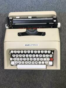 Vintage Olivetti Lettera 35 Portable Typewriter with Case