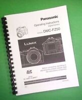 Laser Printed Panasonic Dmc-fz50 Camera 144 Page Owners Manual Guide