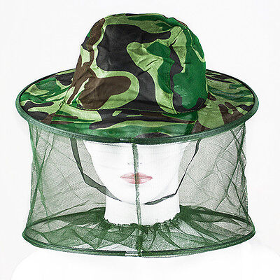 Trendy Practical Mosquito Bug Insect Bee Net Mesh Head Face Protector Hat Cap