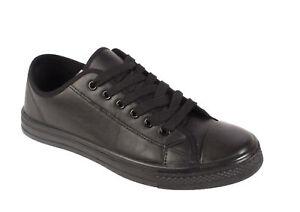 Boys-Mens-Canvas-Casual-Lace-Up-Trainers-Plimsoles-Plimsolls-Shoes-Pumps-UK-7-12