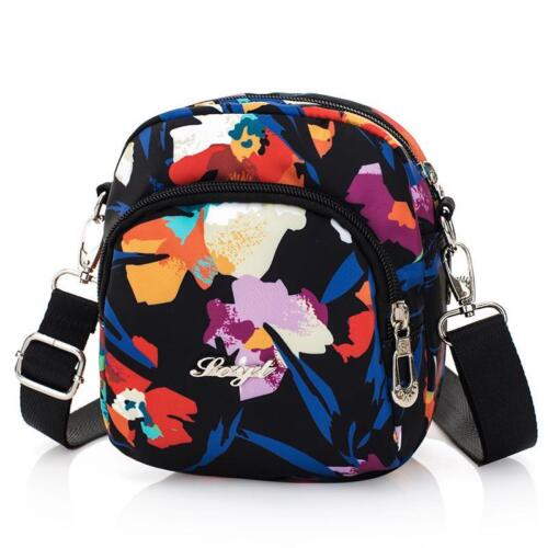 Summer Handbags Women Shoulder Bags Nylon Flower Printing Small Crossbody Mini