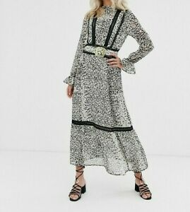 ASOS-DESIGN-Women-039-s-Leopard-Print-Buckle-Belt-Maxi-Dress-Size-8-New-With-Tags