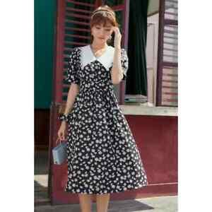 cherrie424: Daisy Print Midi Dress
