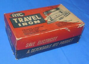 Details about Vintage ATC Travel Iron Deluxe Model TR-1, Chrome Finish, Box
