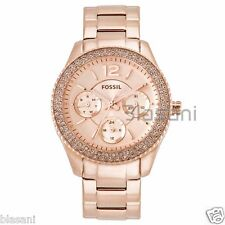 Fossil Original ES3590 Women's Stella Rose Gold Stainless Steel Watch 38mm