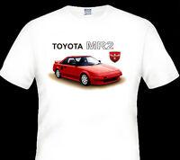86' - 90' Toyota Mr2 Aw11 W10 Quality White Tshirt