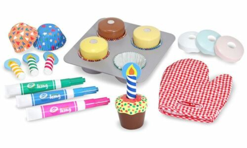 Melissa /& Doug WOODEN CUPCAKE SET PLAY FOOD Role Play//Toy//Gift Toddler//Child BN