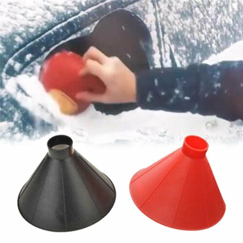 Car Windshield Magic Ice Scraper Tool Cone Shaped Outdoor Funnel Remover Snow