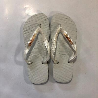 Ciabatta Infradito Havaianas Donna - Logo Metallic - Bianco Oro - Logometa Materiale Selezionato