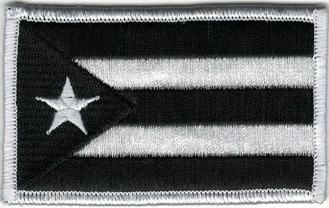 9a6bc9278 Puerto Rico Urban White Black Flag Patch VELCRO® BRAND Hook Fastener  Compatible