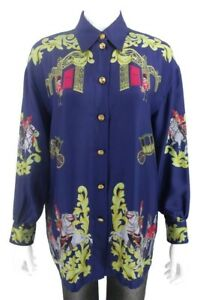 ESCADA-MARGARETHA-LEY-Size-40-Silk-Blouse-Guards-and-Chariots