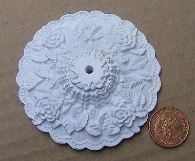 1:12 Scale 7.5cm Diameter Ceiling Rose Tumdee Dolls House Miniature DIY 197