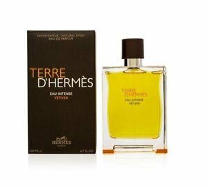 Terre D'Hermes eau intense Vetiver 6.7 oz EDP spray for men 200 ml NIB
