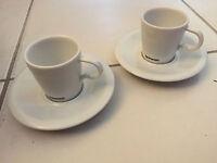 Tasses Nespresso - Collection Professionnelle - Lot De Deux + Sous Tasses Neuves