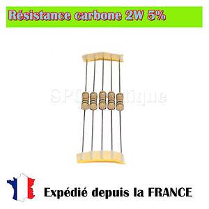 Lots-de-Resistance-carbone-2W-5-180-ohms