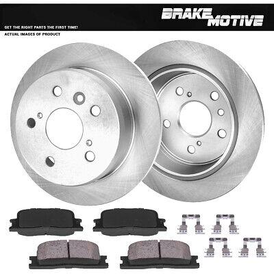 Rear 269 mm Brake Disc Rotors /& Ceramic Pads For Lexus ES300 ES330 Toyota Camry
