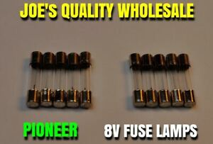 10-FUSE-TYPE-8V-LAMPS-BULBS-SX-939-626-727-828-Pioneer-QX-646-747-848-LIGHTS