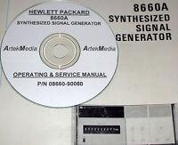 Hp Hewlett Packard 8660a Synthesized Signal Generator, Operating & Service Manua