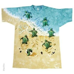 Turtle beach hatchlings babies ocean life sand vacation for Green turtle t shirts review