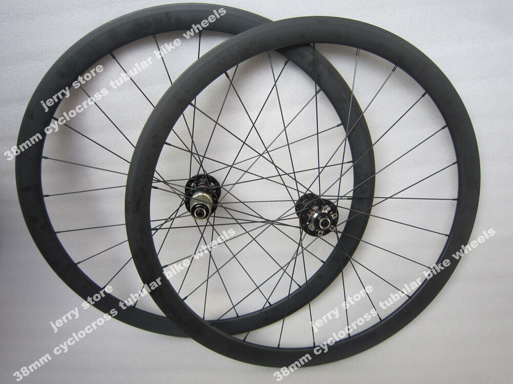 25mm Width 38mm tubular carbon wheel 700C high quality Disc brake wheel set Hot