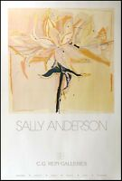 Sally Anderson lily Fine Art Gallery Show Poster Unsigned, Submit Any Offer