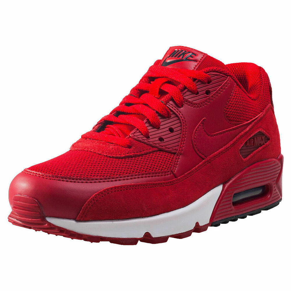 Nike Air Max 90 Rouge Chaussures Baskets Taille UK 9-