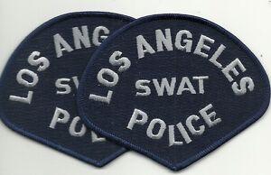 2 x LAPD  LOS ANGELES SWAT  CALIFORNIA  POLICE Polizei Abzeichen Patch ANGEBOT!