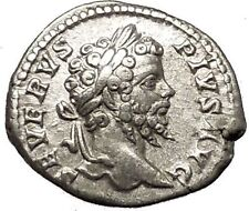SEPTIMIUS SEVERUS Veiled with branch 202AD Silver Ancient Roman Coin  i53235