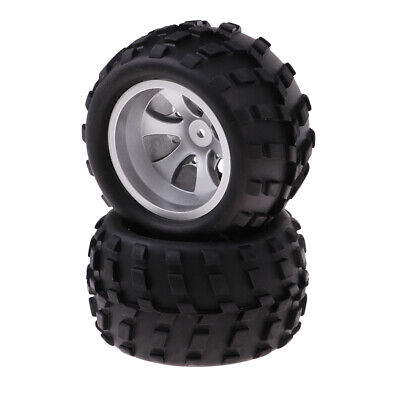 2Pcs Black Rubber Tires Tyres Plastic Wheel Rin Hex for WLtoys A979-A RC Car