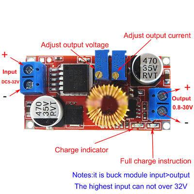 DC Constant Current Buck Step Down Regulator LED Driver Battery Charger 5V 12V