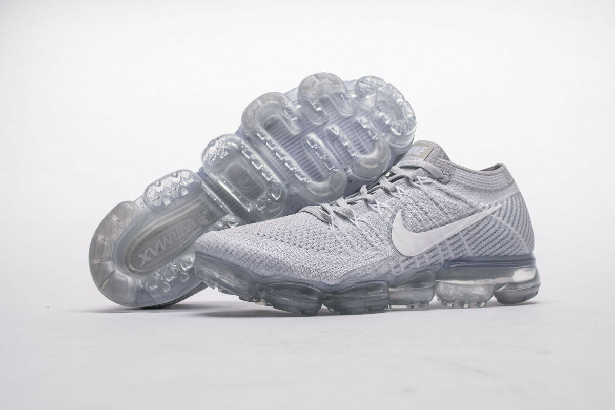 NEW Nike Air VaporMax Flyknit Pure Platinum Wolf Grey White 849558 004 EU40 45