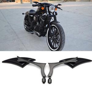 BLACK-BLADE-STEADY-CNC-ALUMINUM-MIRRORS-FOR-MOTORCYCLE-CRUISER-CHOPPER-8-10MM
