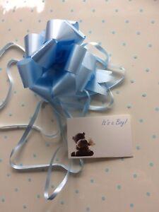 Rotolo regalo Wrap 5 M x 80 CM-BLU BABY SHOWER BOY NASCITA 3 Tirare Fiocchi & Carte  </span>