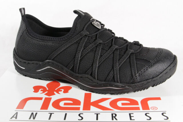 Rieker Ladies Slipper Shoes, Sneakers Trainers, Black L0551 New