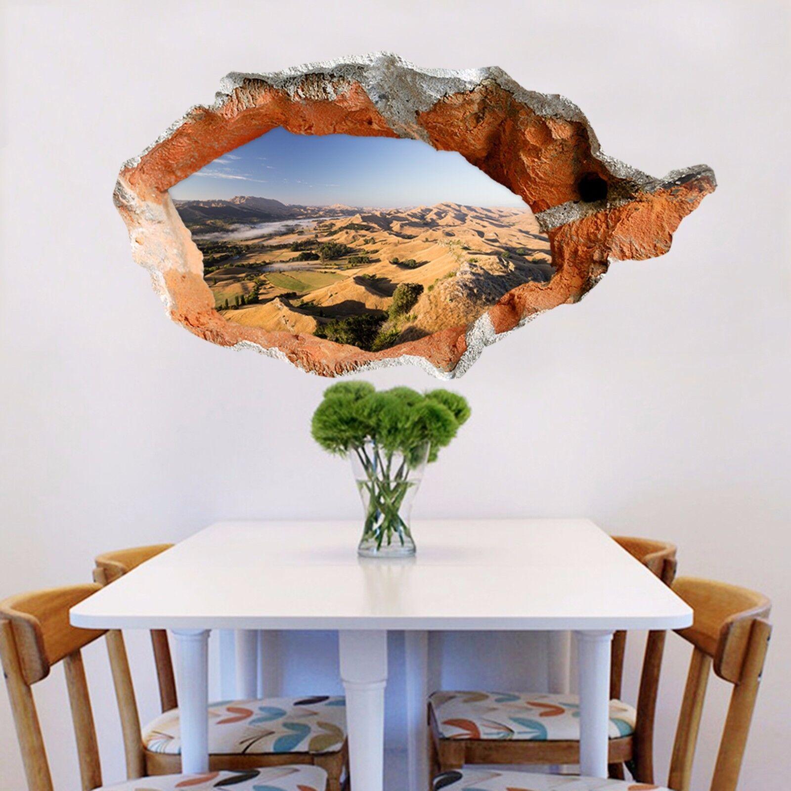 3D Montagne Paesaggio 3 Parete Murales Adesivi Decal Sfondamento AJ WALLPAPER IT