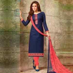 Kameez-Salwar-Indian-Pakistani-Suit-Designer-Dress-Stitched-Shalwar-Cotton