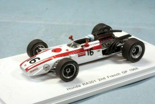 ROMU spark 1//43 Honda RA301 France GP 1968 2nd John Sartes limited 300 units F//S