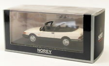 SAAB 900 Turbo 16 Cabriolet 1992 White 1/43 NOREV 810043 Convertible Red