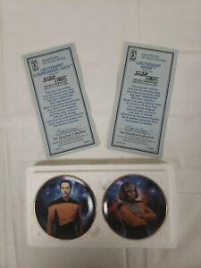 1997-Star-Trek-The-Next-Generation-Worf-amp-Data-Hamilton-Collection-Mini-Plates-D