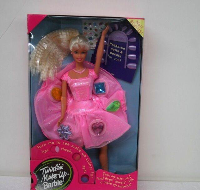 Barbie Doll Twirlin Make-Up Barbie 1997 Brand NEW