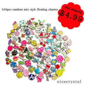 Big-Sale-100pcs-Mix-Style-Floating-charms-For-living-memory-Locket-Free-shipping