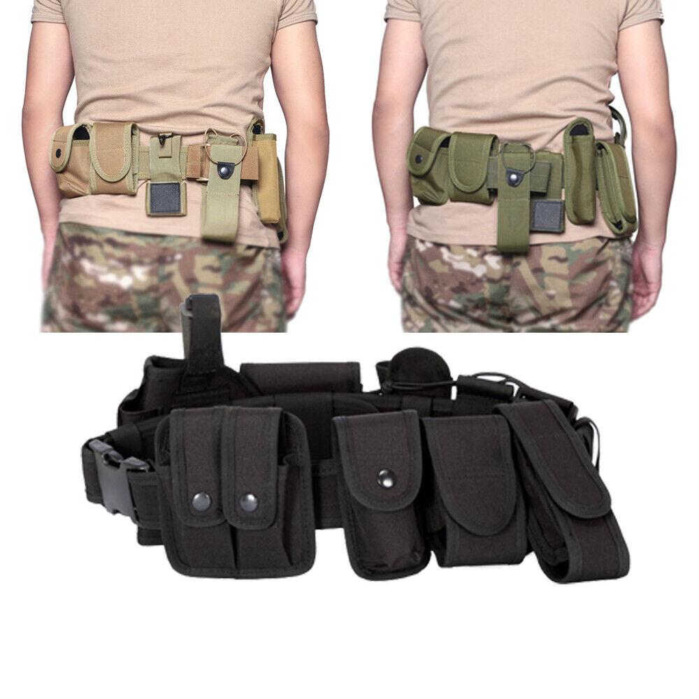 Multifunktionaler Sicherheitsgurt mit 9 kleinen Taschen Tactical Training Guard