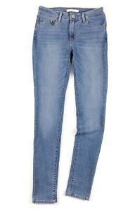 Levi-039-s-711-Jeans-Damen-Mid-Rise-Skinny-Indigo-Strahlen-blau-vintage-soft-188810208